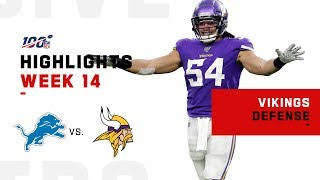 Vikings Defense Stops Lions Cold w/ 5 Sacks & 2 INTs | NFL 2019 Highlights