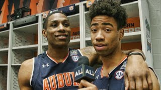 Inside Auburn's locker room at the Final Four with guest reporter Myles Parker