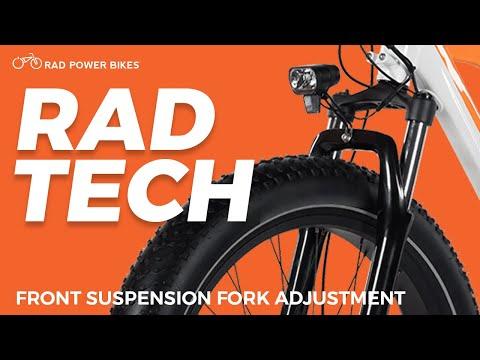 Adjusting Your Front Suspension Fork | Rad Tech