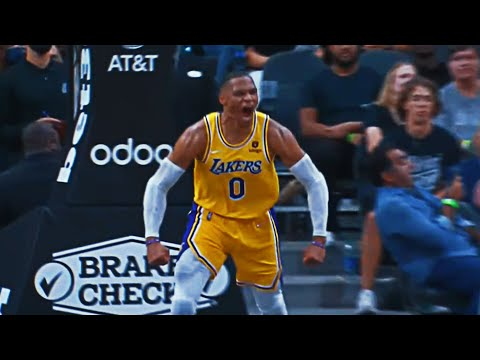 BIG Slam from Russ IGNITES the Lakers in OT!