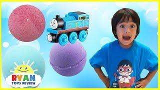 Thomas and Friends Bath Balls Japanese Surprise Toys Train Bubbles Ryan ToysReview