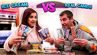 Real candy VS ice cream candy!!