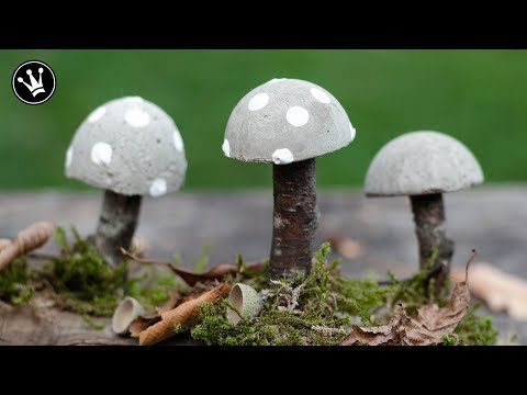 DIY – Herbstdeko selbermachen | Pilze aus Beton | herbstliche Tischdeko | How to