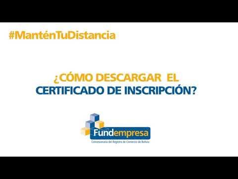 ¿Cómo descargar el certificado de inscripción?