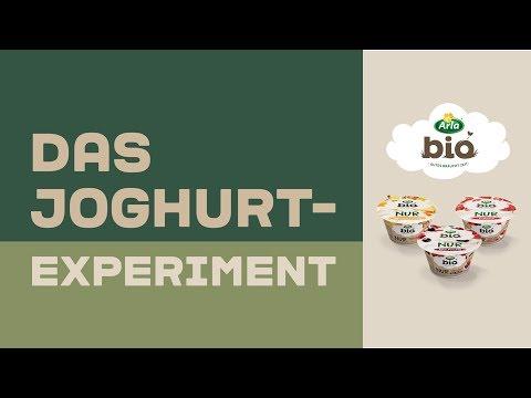 Arla Bio I NUR Joghurt, Frucht. Das Joghurt-Experiment.