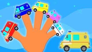 ครอบครัวรถพยาบาลนิ้ว | คล้องจองสำหรับเด็ก | เพลงเด็ก | Ambulance Finger Family | Kids Song