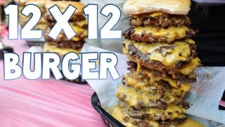 Eating a 12x12 Cheese Burger in 2:15 | Furious Pete