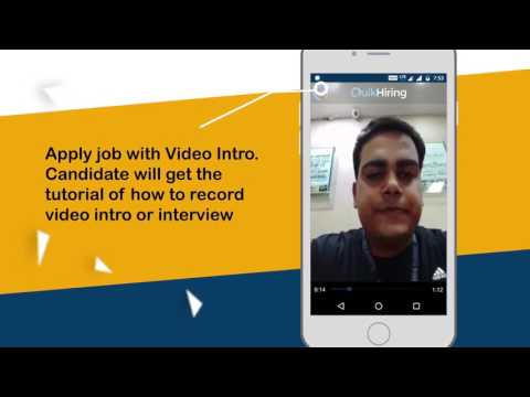 QuikHiring Jobs & Video Interview App explained with Voiceover