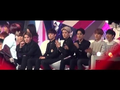 [HD Fancam] 131229- EXO reaction to Heechul expectation dance!!
