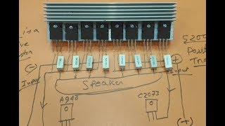 Circuit Diagram Of Amplifier Of A Transistor 13007