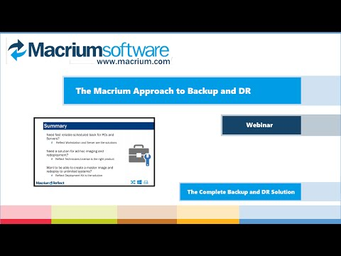 Macrium Customer Webinar - December 2015