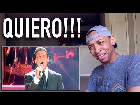 Reacting to LUIS MIGUEL - QUIERO - HD ( VIVO 2000 )