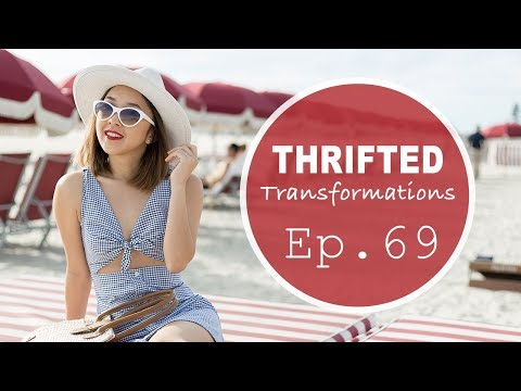 DIY Tie-Dress from Men's Shirt | Thrifted Transformations Ep. 69