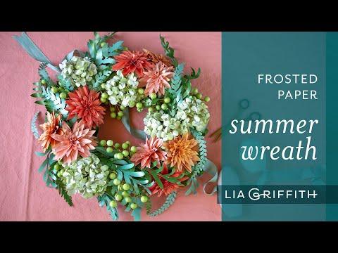 DIY Frosted Paper Summer Garden Wreath