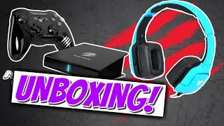 EPIC MOBILE GAMING GEAR! | M.O.J.O Console + Tritton KUNAI Unboxing / Review