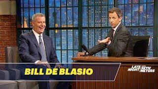 Mayor Bill de Blasio Talks Regulating Topless Times Square Performers