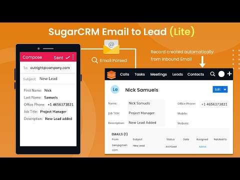 Functionalities of SugarCRM Email to Lead Lite