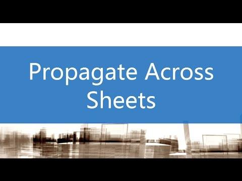 Propagate Across Sheets