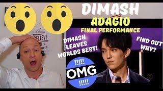 DIMASH FINAL WORLD'S BEST PERFORMANCE - ADAGIO (WB CHAMPIONSHIPS) | REACTION!