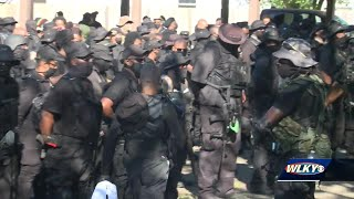 Black armed militia group returns to Louisville to peacefully protest Kentucky Derby 146