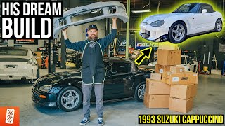 Building his DREAM Jdm Kei Car! (Full Transformation) : 1993 Suzuki Cappuccino Turbo