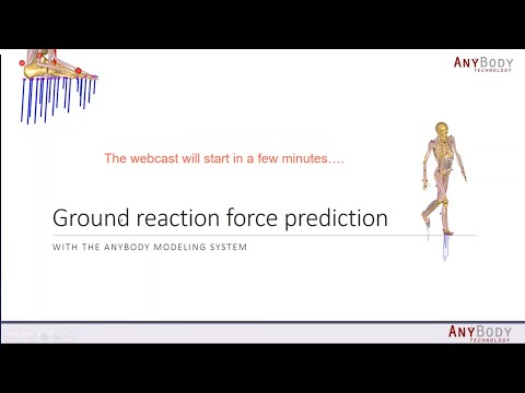 [Webcast] - Ground Reaction Force Prediction With The AnyBody Modeling System