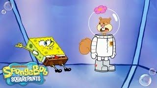 SpongeBob SquarePants | Sandy's Vacation in Ruins 🤖 | Nick
