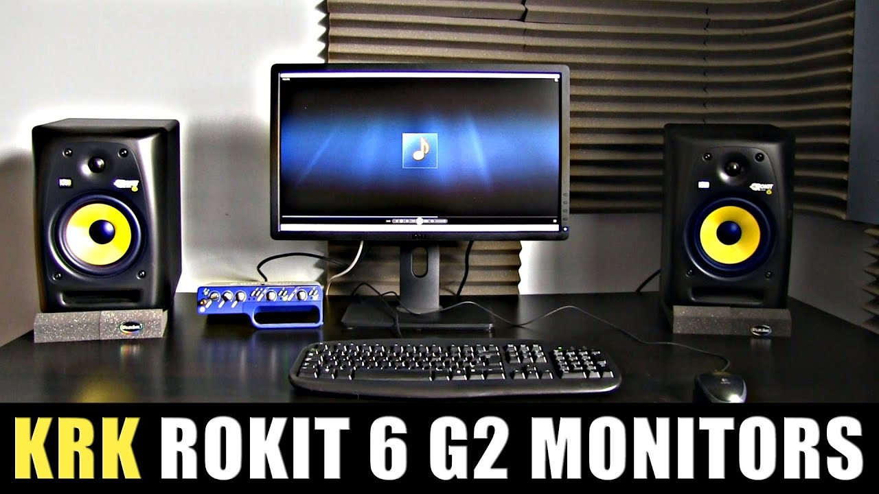 krk rokit rp6 g2 active monitors review audio test youtube. Black Bedroom Furniture Sets. Home Design Ideas