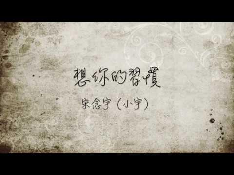 宋念宇(小宇)- 想你的習慣(電視劇《蜂蜜幸運草》主題曲)歌詞版