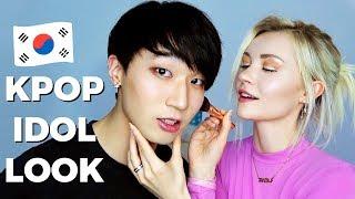 Doing my Korean Boyfriends Makeup *Idol Look*