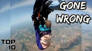 Top 10 Scary Skydiving Videos Caught On Camera