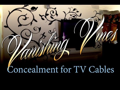 Vanishing Vines - Concealment for TV Cables