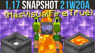 Minecraft 1.17 Snapshot 21w20a Axolotl Love, Visual Fire & Melting Powder Snow