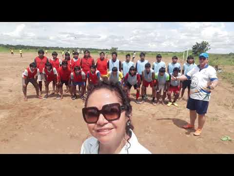 Professor Elton Carlos Michelson Técnico de Futebol da Secretaria de Esportes do município, leva o futebol para as aldeias indígenas Xavantes, projeto de inclusão social através do esporte