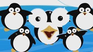 cinco pequeno pinguim | Rimas de berçário | Five Little Penguins | Kids Baby Club Português