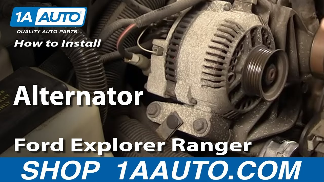 how to install replace alternator ford explorer ranger. Black Bedroom Furniture Sets. Home Design Ideas