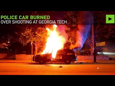 Police car torched, 2 cops hurt in Georgia Tech riot after police shooting of student