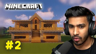 AJJUBHAI NEW SURVIVAL HOUSE VS TECHNO GAMERZ AND CHAPATI LOL HOUSE | MINECRAFT HEROBRINE #2