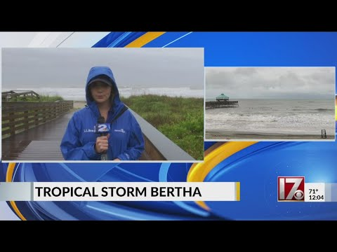 Live from Isle of Palms after Tropical Storm Bertha makes landfall
