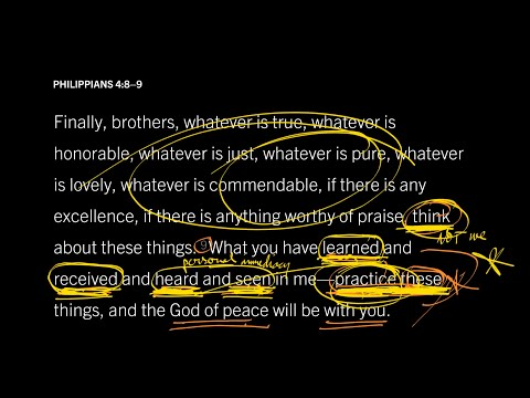 Philippians 4:8–9 // Part 3 // How to Experience the Presence of God