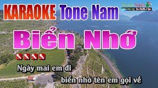 Biển Nhớ Karaoke || Tone Nam - Nhạc Sống Thanh Ngân