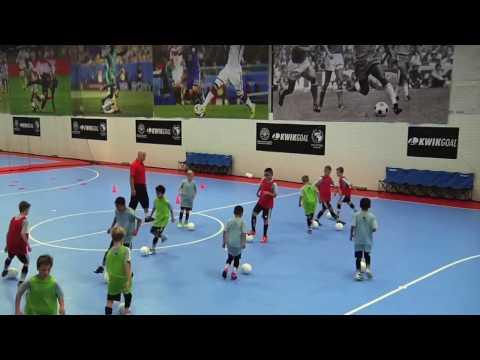 NSCAA Futsal Level 1 Activity: Grouping Game Warm Up