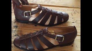 classic leather sandal  making