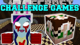 Minecraft: CREEPY GIRL CHALLENGE GAMES - Lucky Block Mod - Modded Mini-Game