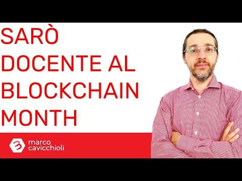 Sarò docente al Blockchain Month Milano