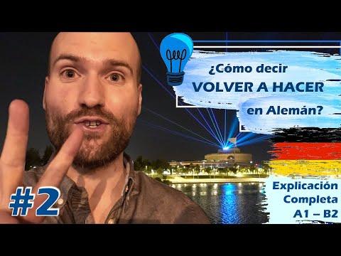 VOLVER A HACER en Alemán   𝗦𝗨𝗣𝗘𝗥 𝗦𝗘𝗥𝗜𝗘 🇩🇪✨ sobre las Perífrasis Verbales #2   A1 – B2