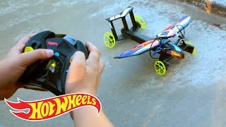 Controlling the Hot Wheels Sky Shock Car, Insane Transformation & Racing Without Limits | Hot Wheels