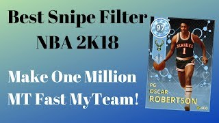 Best Snipe Filter NBA 2K18 MyTeam - Make One Million MT Fast - Evolution Packs!