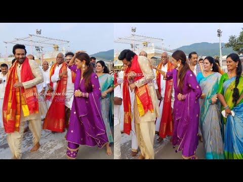 Mohan Babu, Manchu Vishnu and his MAA panel members offer prayers at Tirumala