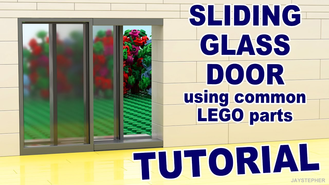 Tutorial Lego Sliding Glass Doors Using Common Parts Cc